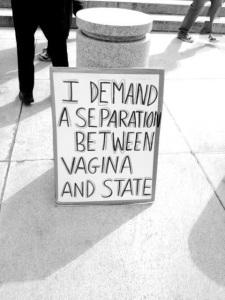 Exijo una separación entre mi vagina y el Estado
